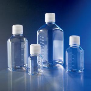 Butelki, wąska szyjka, ośmioboczne, z nakrętką
